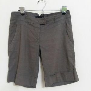 THEORY Khaki/ Gray Bermuda Shorts Size 4